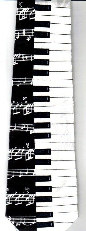 画像2: ネクタイ 鍵盤と音符 <A>
