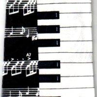 ネクタイ 鍵盤と音符 <A>