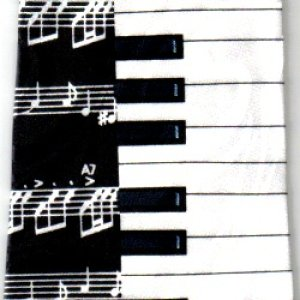 画像1: ネクタイ 鍵盤と音符 <A>