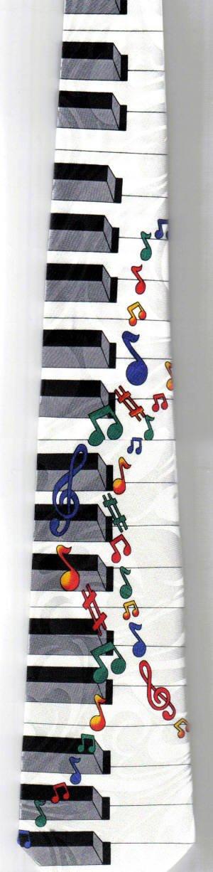 画像2: ネクタイ 鍵盤と音符 <E>
