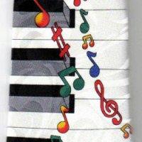 ネクタイ 鍵盤と音符 <E>