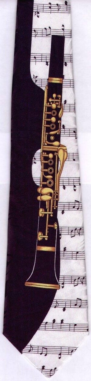 画像2: ネクタイ クラリネットと音符