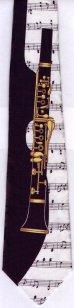 画像2: ネクタイ クラリネットと音符 (2)