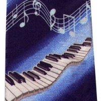 ネクタイ 鍵盤と音符 <F>