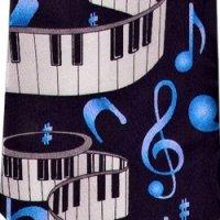ネクタイ 鍵盤と音符 <G>