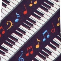ネクタイ 鍵盤と音符 <H>