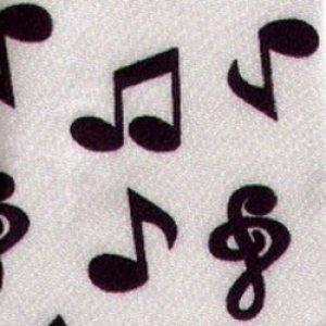 画像1: ネクタイ 音符(スリム) <D>