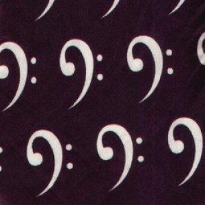 画像1: ネクタイ ヘ音記号 ベース <B>