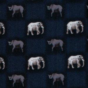 画像1: ネクタイ ゾウとサイ