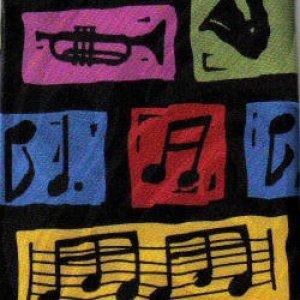 画像1: ネクタイ 楽器と音符