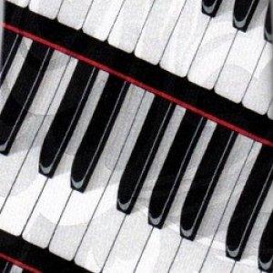 画像1: ネクタイ 鍵盤 <赤>