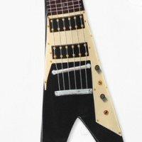 ギター型ネクタイ フライングV(シルク)