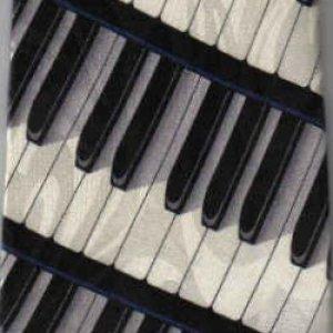 画像1: ネクタイ 鍵盤 <青>