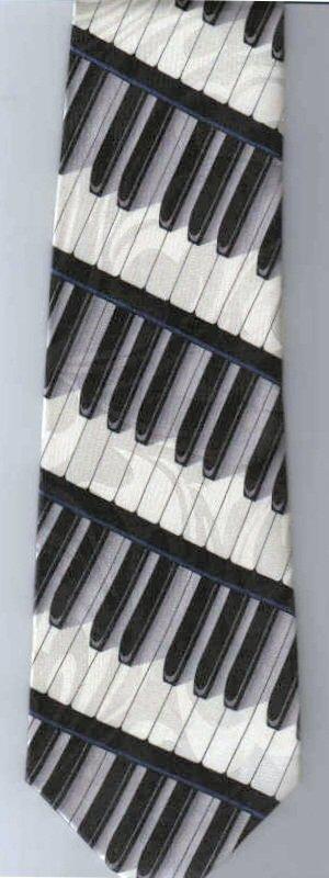 画像2: ネクタイ 鍵盤 <青>